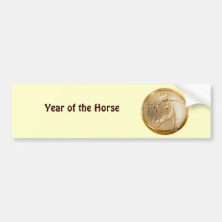 Ano do cavalo adesivo para carro