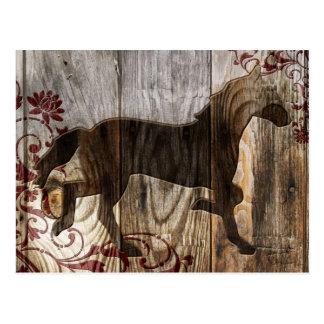 ano do cavalo de madeira cartão postal