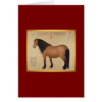 Ano do cavalo do Mongolian do cartão do cavalo