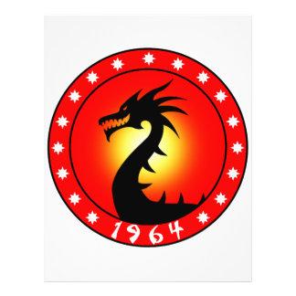 Ano do dragão 1964 panfleto personalizados