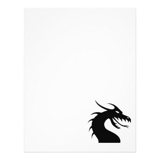 Ano do dragão - cabeça do dragão panfleto personalizado