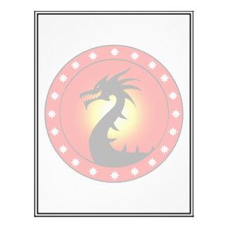 Ano do dragão modelo de panfleto