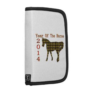 Ano do feliz ano novo do ouro do cavalo 2014 agenda