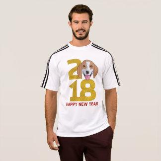 Ano do lebreiro da camisa do ano novo do cão 2018