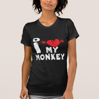 """Ano do macaco """"eu amo meu macaco """" camiseta"""