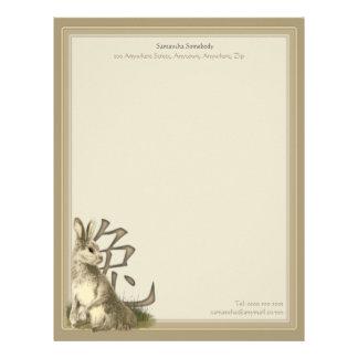 Ano do papel de carta do coelho