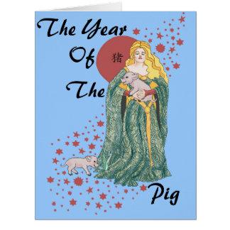Ano do porco cartões