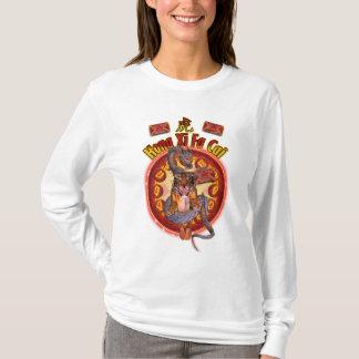 Ano do T do tigre para mulheres com dragão & Tige Camiseta