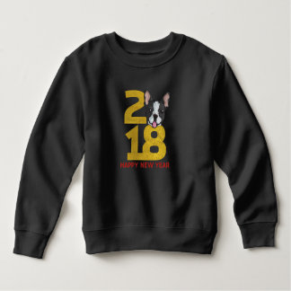 Ano do terrier de Boston da camisa do ano novo do