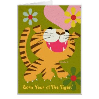 Ano nascido do cartão do tigre