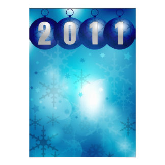 Ano novo 2011 convite personalizados
