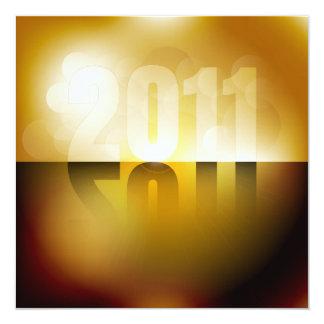 Ano novo 2011 convite quadrado 13.35 x 13.35cm