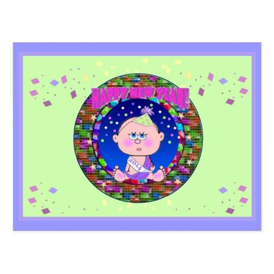 Ano novo 2014 do bebê cartão postal