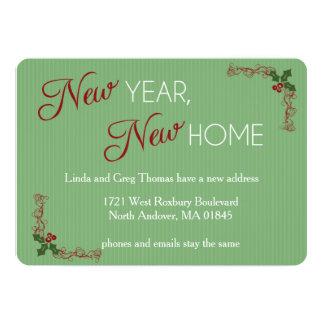 Ano novo, anúncio movente do Natal Home novo Convite 12.7 X 17.78cm