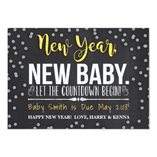 Ano novo, anúncio novo da gravidez do bebê