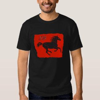 Ano novo chinês 2014 anos da camisa do cavalo camisetas