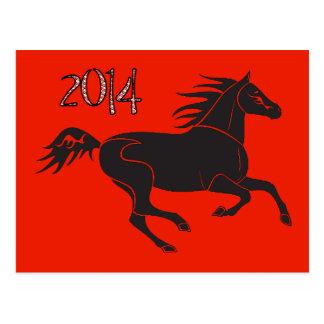 Ano novo chinês 2014 anos do cartão do cavalo cartoes postais