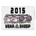 Ano novo chinês dos carneiros 2015 cartoes