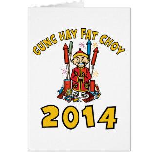 Ano novo chinês feliz 2014 cartão comemorativo