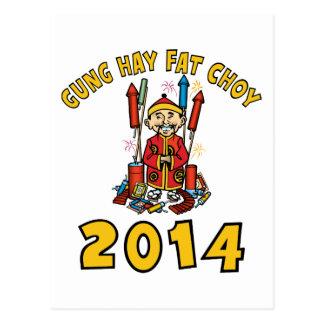 Ano novo chinês feliz 2014 cartão postal