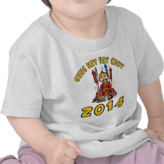 Ano novo chinês feliz 2014 camisetas