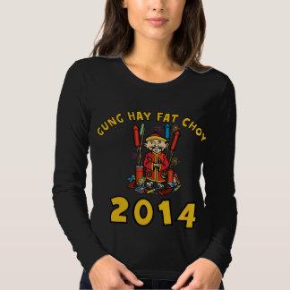 Ano novo chinês feliz 2014 tshirts