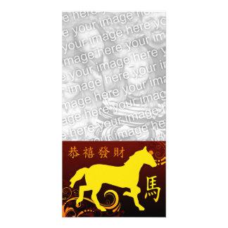 Ano novo chinês feliz: Ano do cavalo 2014 Cartão Com Foto