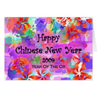 Ano novo chinês feliz cartões