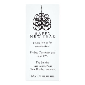 Ano novo convite personalizados