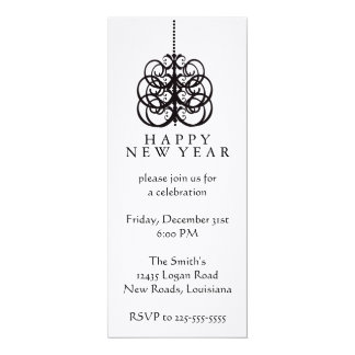 Ano novo convite 10.16 x 23.49cm