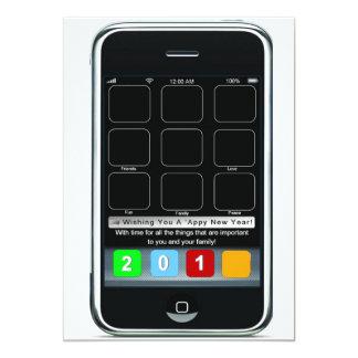 Ano novo de Iphone 'Appy Convite 12.7 X 17.78cm