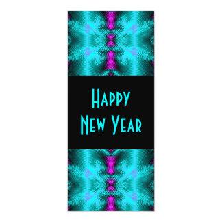 ano novo de turquesa convite 10.16 x 23.49cm
