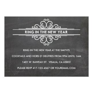 Ano novo Invintation do quadro Convites Personalizado