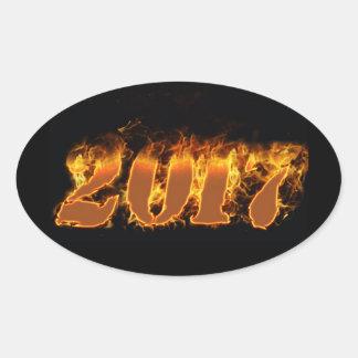 Ano novo que arde a etiqueta 2017
