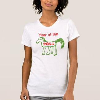 Ano verde bonito do cavalo do zodíaco do cavalo camisetas