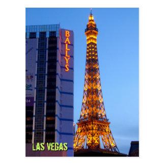 Anoitecer de Las Vegas Cartão Postal