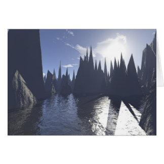 anomalias 2 do fractal cartão comemorativo