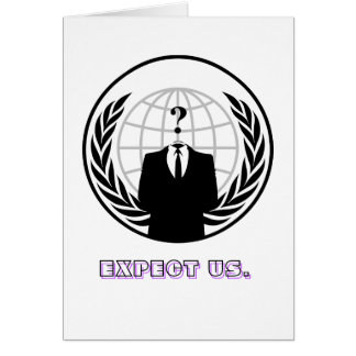 Anónimo (usado como um substantivo maciço) é froux cartão comemorativo