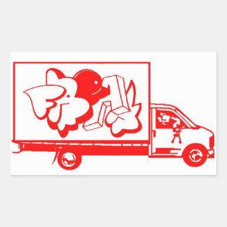 anormal do caminhão adesivo retangular
