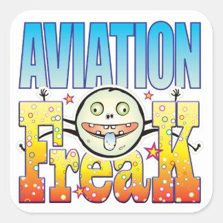 Anormal Freaky da aviação Adesivo Quadrado