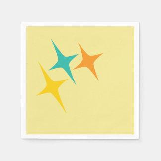 Anos 50 astucioso - guardanapo triplo do starburst