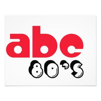Anos 80 de ABC Convites Personalizado
