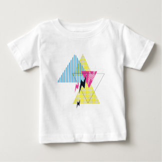 Anos 80 do flash do triângulo do parafuso de camiseta