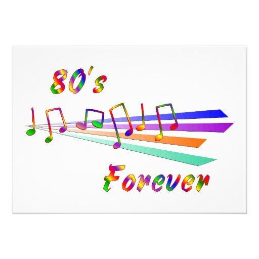 anos 80 para sempre convite personalizado