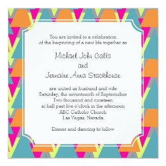 anos 80 que Wedding o teste padrão geométrico do Convites