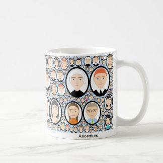 antepassados caneca de café