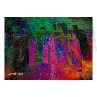 Antepassados do arco-íris cartão comemorativo