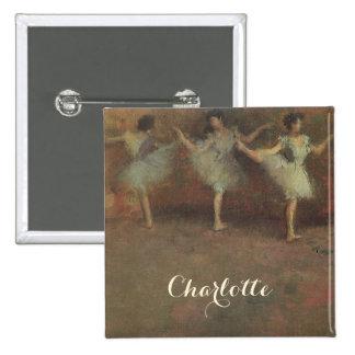 Antes do balé por Edgar Degas, belas artes do Bóton Quadrado 5.08cm