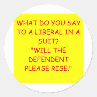 anti anti piada liberal de obama adesivos redondos