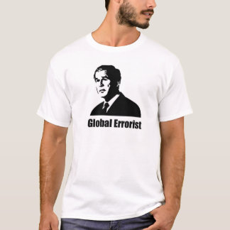 Anti arbusto - errorist global camiseta